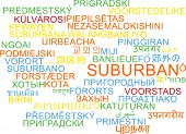 image of suburban city  - Background concept wordcloud multilanguage international many language illustration of suburban - JPG