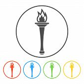 image of torches  - Torch icon  - JPG