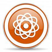 stock photo of atomizer  - atom orange icon   - JPG
