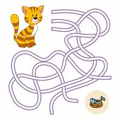 stock photo of game-fish  - Maze game for children  - JPG