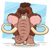 image of mammoth  - Funny Mammoth Cartoon Character - JPG