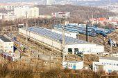 picture of motor coach  - railway depot - JPG