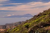 image of volcanic  - View of El Teide Volcan in Tenerife From Gran Canria Mountains Canary Islands Spain - JPG