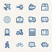 picture of railroad car  - Transport web icons set - JPG