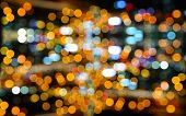 image of heptagon  - Photo of bokeh on black background - JPG