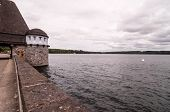 foto of dam  - Mohnesee Westfalia Delecke European German Water Dam - JPG