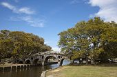 image of whalehead club  - The footbridge in Corolla in Heritage Park is on the National Register of Historic Places - JPG