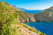 picture of greek-island  - View of amazing sea bay with clear water on Greek island - JPG