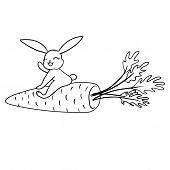 stock photo of hare  - children - JPG