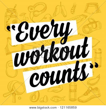poster of Fitness motivation quote poster.