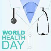 7 April World Health Day. Text for greeting card poster