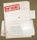 pic of top-secret  - dorsal view of military top secret folder with stamp - JPG