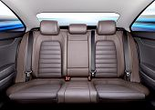 picture of seatbelt  - Back passenger seats in modern sport car - JPG