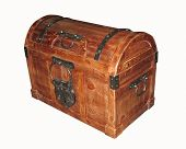 pic of dowry  - old wooden box - JPG