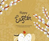 Happy Easter Card with Eggs. Poster, greeting card. poster