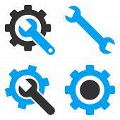 Settings Flat Vector Symbols poster