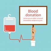 Постер, плакат: Blood Donation Hand Male Donor