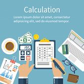 Постер, плакат: Calculation Concept Businessman Accountant