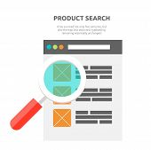 Search Product Website Design Flat poster