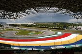 Sepang, MALAYSIA - 4 April: View of the tracks and grandstand of the Sepang International Circuit du