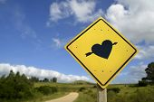 Постер, плакат: Find Your Soulmate Love Concept Icon Road Sign