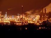 image of bp  - the bp oil refinery in grangemouth scotland uk at night - JPG