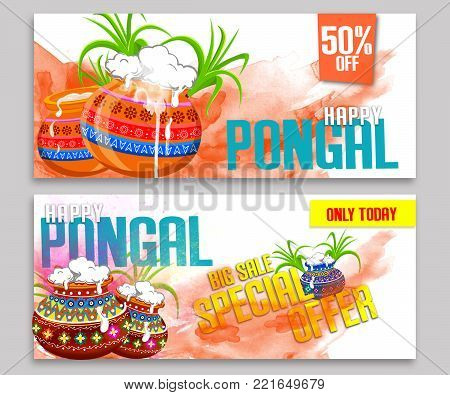 Happy pongal greeting card on beautiful bright background poster happy pongal greeting card on beautiful bright background poster postcard poster m4hsunfo