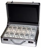 picture of million-dollar  - One Million Dollars in hundreds in a metal briefcase - JPG