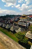 foto of tantric  - Picture of the Pashupatinath area in Kathmandu Nepal - JPG