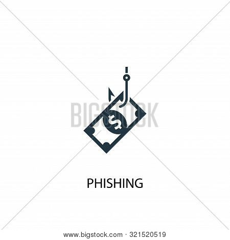 poster of Phishing Icon. Simple Element Illustration. Phishing Concept Symbol Design. Can Be Used For Web