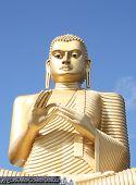 5th Century Golden Buddha Sits Above The Golden Temple At Sigiriya, Dambulla, Near The Dambulla Temp poster