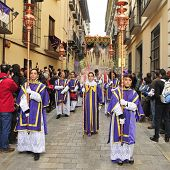 GRANADA, SPAIN - APRIL 4: Easter Procession of Maria Santisima del Sacromonte on April 4, 2012 in Gr