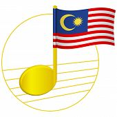 Malaysia Flag And Musical Note. Music Background. National Flag Of Malaysia And Music Festival Conce poster