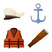 Vector Illustration Of Adventure And Sea Logo. Set Of Adventure And Travel Stock Symbol For Web. poster