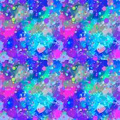 Seamless Pattern From Color Splashes And Smudges. Abstract Seamless Vector Color Background poster