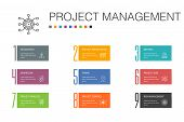 Project Management Infographic 10 Option Line Concept.project Presentation, Meeting, Workflow, Risk  poster