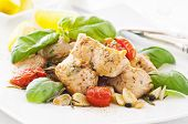 stock photo of marsala  - Chicken fillet with garlic and tomato - JPG