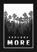 Explore More Against The Background Of The Silhouette Of Trees, Nature On A Dark Background. poster