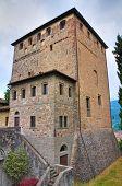 Постер, плакат: Замок Malaspina Даль Verme Bobbio Эмилия Романья Италия