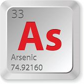 stock photo of arsenic  - arsenic element - JPG