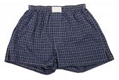 image of boxer briefs  - Navy blue boxer shorts - JPG