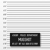 image of measuring height  - Police mugshot - JPG