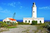 View of beacon Far de la Mola in Formentera, Balearic Islands, Spain poster