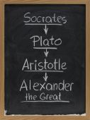image of socrates  - succession of ancient Greek teachers and students  - JPG