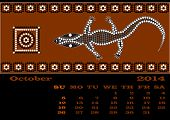 picture of aborigines  - A calender based on aboriginal style of dot painting  - JPG