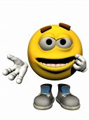 picture of smiley face  - An Emoticon or Smiley Illustration Isolated On White Background - JPG