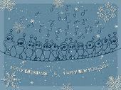 image of christmas song  - Winter background hand  - JPG