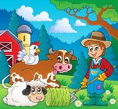 Farm animals theme image 9 - eps10 vector illustration.