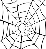foto of cobweb  - Vector illustration of cobweb for Halloween night - JPG