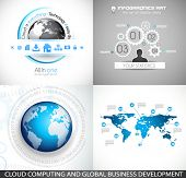 Flat Style Diagram, Infographic and UI Icons to use for your business project, marketing promotion,